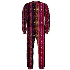 Colorful And Glowing Pixelated Pixel Pattern Onepiece Jumpsuit (men)