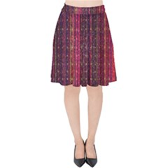 Colorful And Glowing Pixelated Pixel Pattern Velvet High Waist Skirt by Jojostore