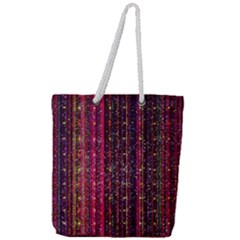 Colorful And Glowing Pixelated Pixel Pattern Full Print Rope Handle Tote (large) by Jojostore