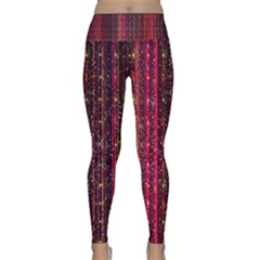 Colorful And Glowing Pixelated Pixel Pattern Lightweight Velour Classic Yoga Leggings