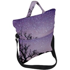 Arches National Park Night Fold Over Handle Tote Bag
