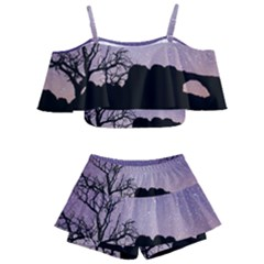 Arches National Park Night Kids  Off Shoulder Skirt Bikini
