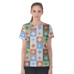 Fabric Textile Textures Cubes Women s Cotton Tee by Jojostore