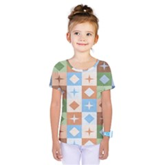 Fabric Textile Textures Cubes Kids  One Piece Tee