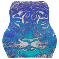 Background Fabric With Tiger Head Pattern Car Seat Velour Cushion