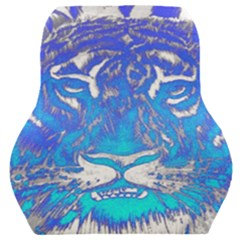 Background Fabric With Tiger Head Pattern Car Seat Back Cushion  by Jojostore