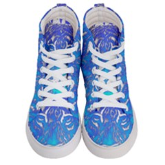 Background Fabric With Tiger Head Pattern Men s Hi Top Skate Sneakers