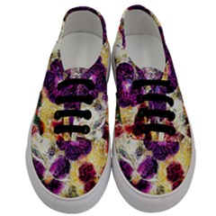 Background Flowers Men s Classic Low Top Sneakers