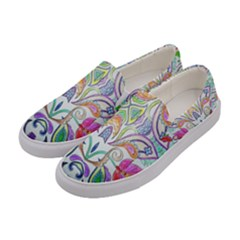 Wallpaper Created From Coloring Book Women s Canvas Slip Ons by Jojostore