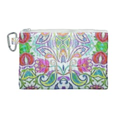 Wallpaper Created From Coloring Book Canvas Cosmetic Bag (large)