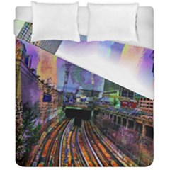 Downtown Chicago Duvet Cover Double Side (california King Size) by Jojostore
