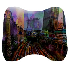 Downtown Chicago Velour Head Support Cushion by Jojostore