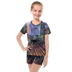 Downtown Chicago Kids  Mesh Tee And Shorts Set