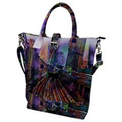 Downtown Chicago Buckle Top Tote Bag