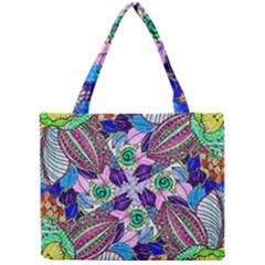 Wallpaper Created From Coloring Book Mini Tote Bag by Jojostore