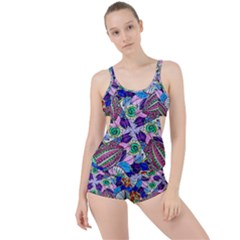 Wallpaper Created From Coloring Book Boyleg Tankini Set