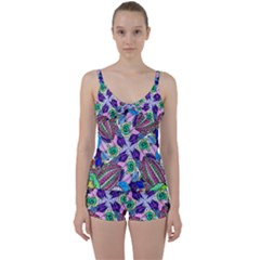 Wallpaper Created From Coloring Book Tie Front Two Piece Tankini