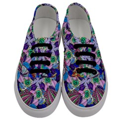 Wallpaper Created From Coloring Book Men s Classic Low Top Sneakers