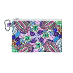 Wallpaper Created From Coloring Book Canvas Cosmetic Bag (medium) by Jojostore