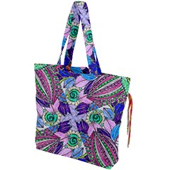 Wallpaper Created From Coloring Book Drawstring Tote Bag by Jojostore