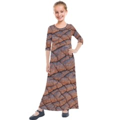 Elephant Skin Kids  Quarter Sleeve Maxi Dress by Jojostore