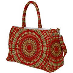 Gold And Red Mandala Duffel Travel Bag by Jojostore