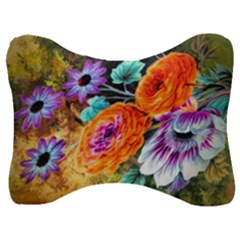 Flowers Artwork Art Digital Art Velour Seat Head Rest Cushion by Jojostore