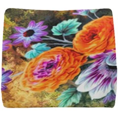 Flowers Artwork Art Digital Art Seat Cushion by Jojostore