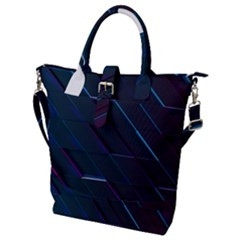 Glass Scifi Violet Ultraviolet Buckle Top Tote Bag