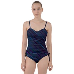Glass Scifi Violet Ultraviolet Sweetheart Tankini Set by Sapixe
