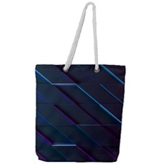 Glass Scifi Violet Ultraviolet Full Print Rope Handle Tote (large) by Sapixe