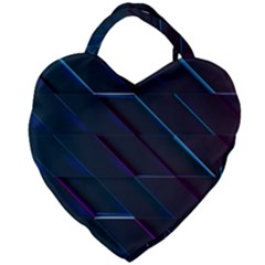 Glass Scifi Violet Ultraviolet Giant Heart Shaped Tote