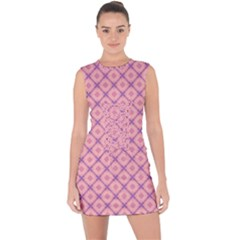 Digital Art Art Artwork Abstract Lace Up Front Bodycon Dress