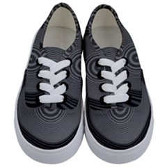 Digital Art Background Black White Kids  Classic Low Top Sneakers