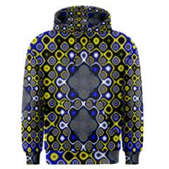 Digital Art Background Yellow Blue Men s Pullover Hoodie