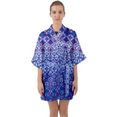 Digital Art Art Artwork Abstract Quarter Sleeve Kimono Robe by Sapixe