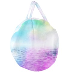 Background Art Abstract Watercolor Giant Round Zipper Tote by Sapixe