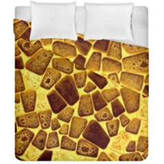 Yellow Cast Background Duvet Cover Double Side (california King Size)