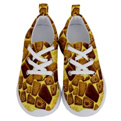 Yellow Cast Background Running Shoes