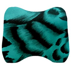 Blue Background Fabrictiger  Animal Motifs Velour Head Support Cushion by Jojostore