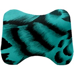Blue Background Fabrictiger  Animal Motifs Head Support Cushion
