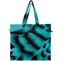 Blue Background Fabrictiger  Animal Motifs Canvas Travel Bag by Jojostore