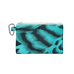 Blue Background Fabrictiger  Animal Motifs Canvas Cosmetic Bag (small) by Jojostore