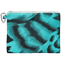 Blue Background Fabrictiger  Animal Motifs Canvas Cosmetic Bag (xxl) by Jojostore