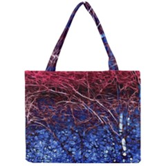 Autumn Fractal Forest Background Mini Tote Bag