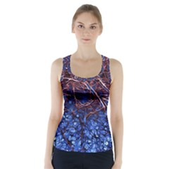 Autumn Fractal Forest Background Racer Back Sports Top