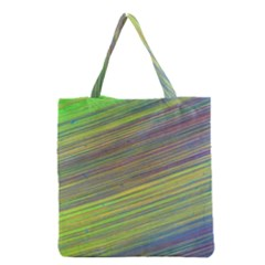 Diagonal Lines Abstract Grocery Tote Bag by Jojostore