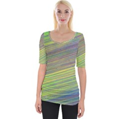 Diagonal Lines Abstract Wide Neckline Tee