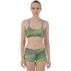Diagonal Lines Abstract Perfect Fit Gym Set