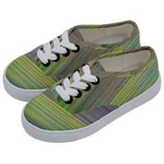 Diagonal Lines Abstract Kids  Classic Low Top Sneakers by Jojostore